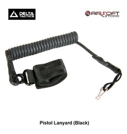 Delta Tactics Pistol Lanyard (Black)