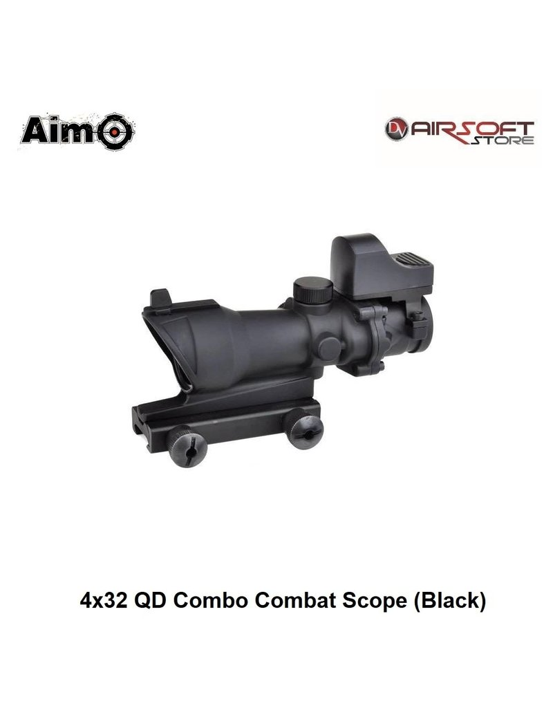 Aimpoint 4x32 QD Combo Combat Scope (Black)