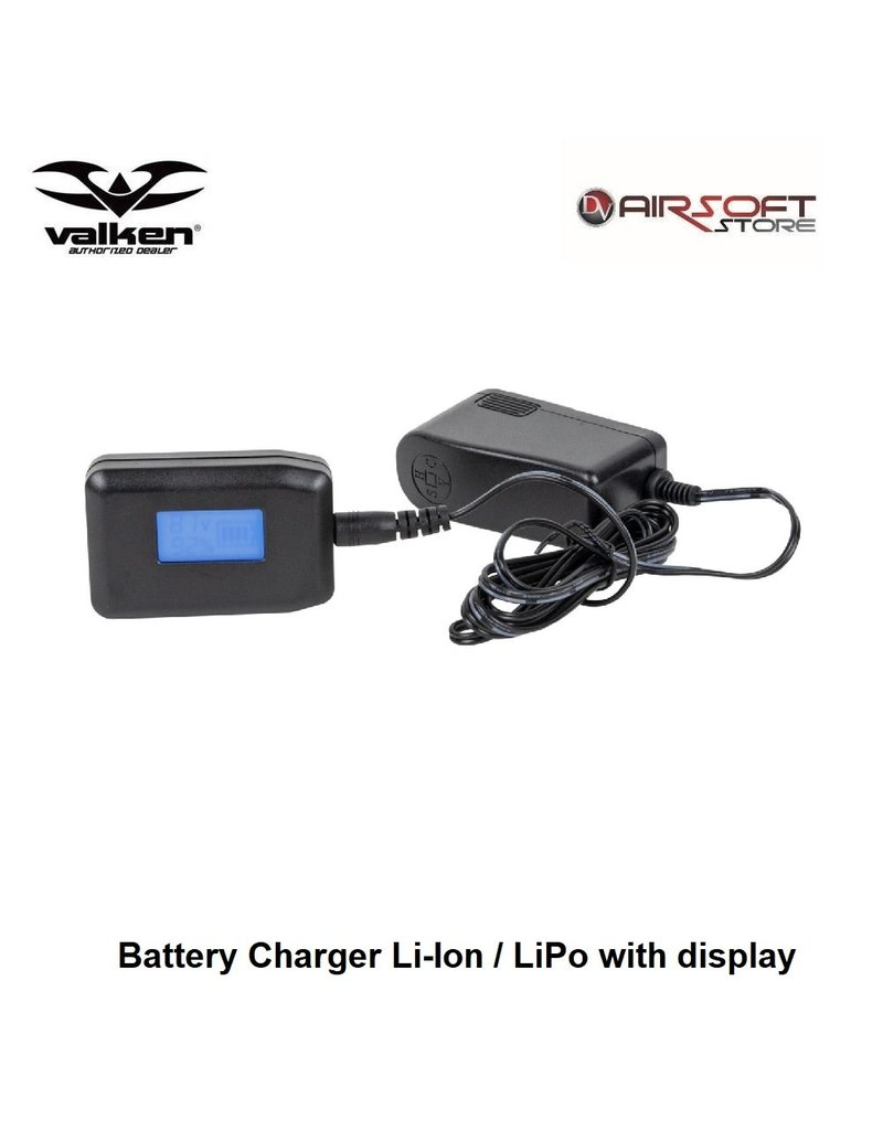 VALKEN Battery Charger Li-Ion / LiPo with display