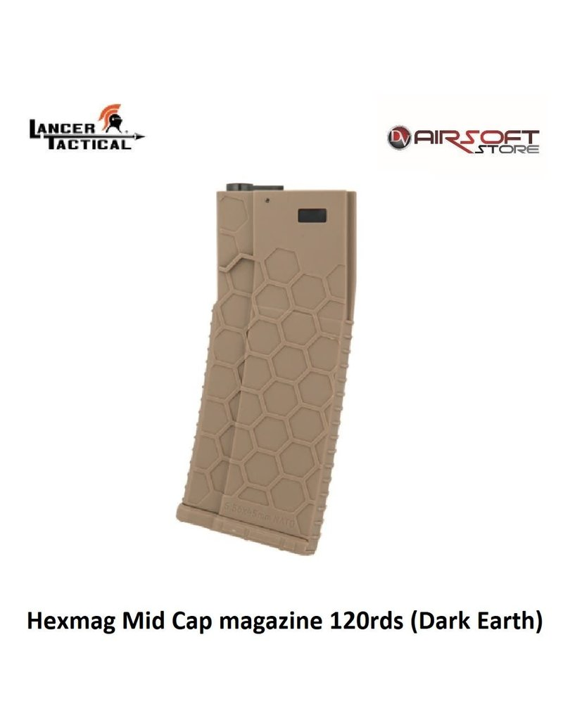 Lancer Tactical Hexmag Mid Cap magazine 120rds (Dark Earth)