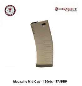 G&G Magazine Mid-Cap - 120rds - TAN/BK