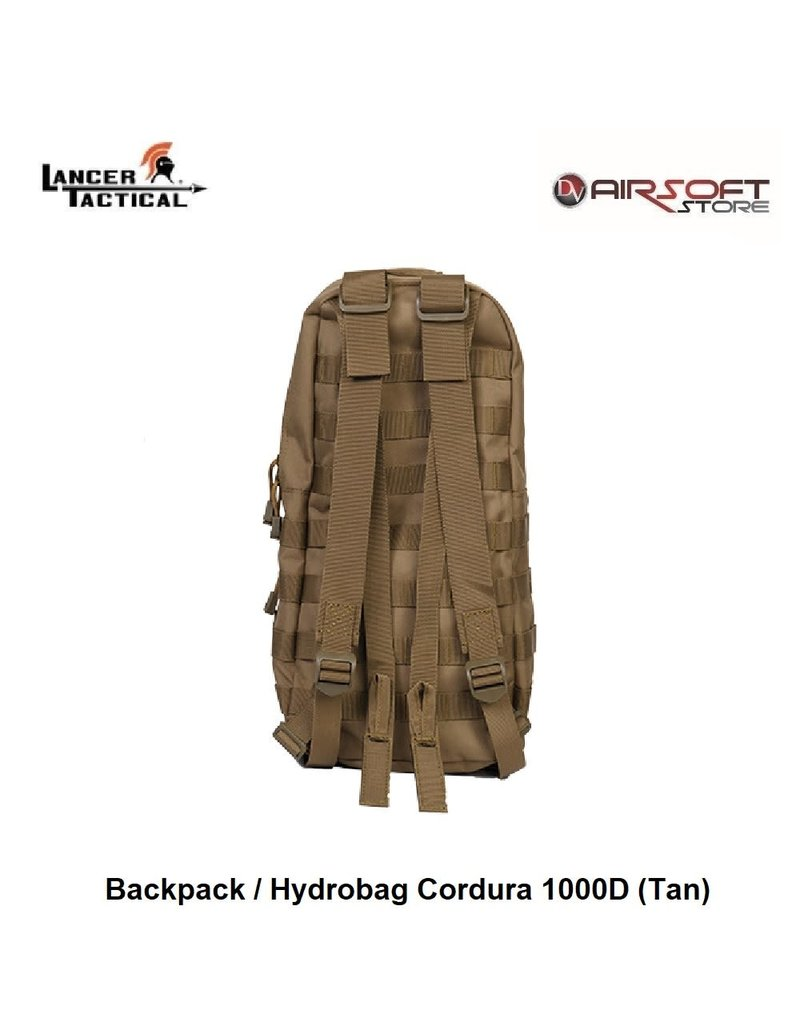 Lancer Tactical Backpack / Hydrobag Cordura 1000D (Tan)