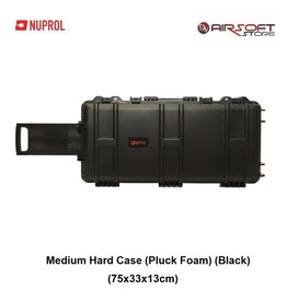 NUPROL Medium Hard Case (Pluck Foam) (Black)
