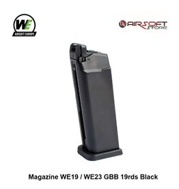 WE Magazine WE19 / WE23 GBB 19rds Black