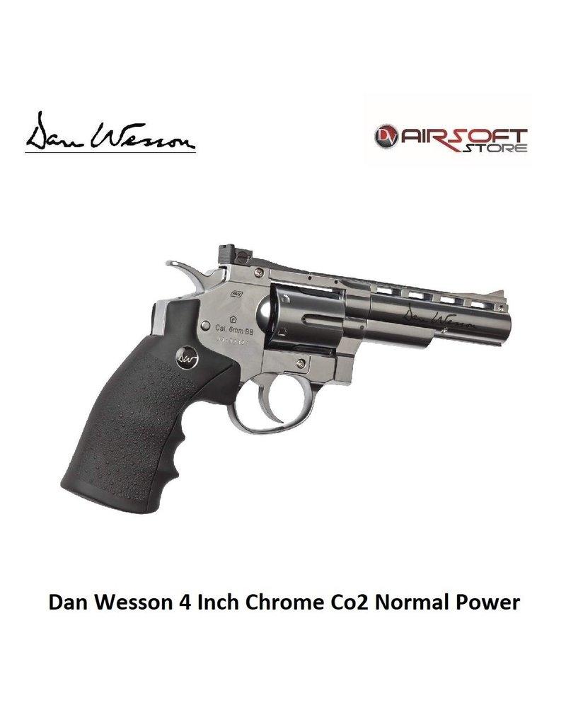 Dan Wesson Revolver 4 Inch Chrome Co2