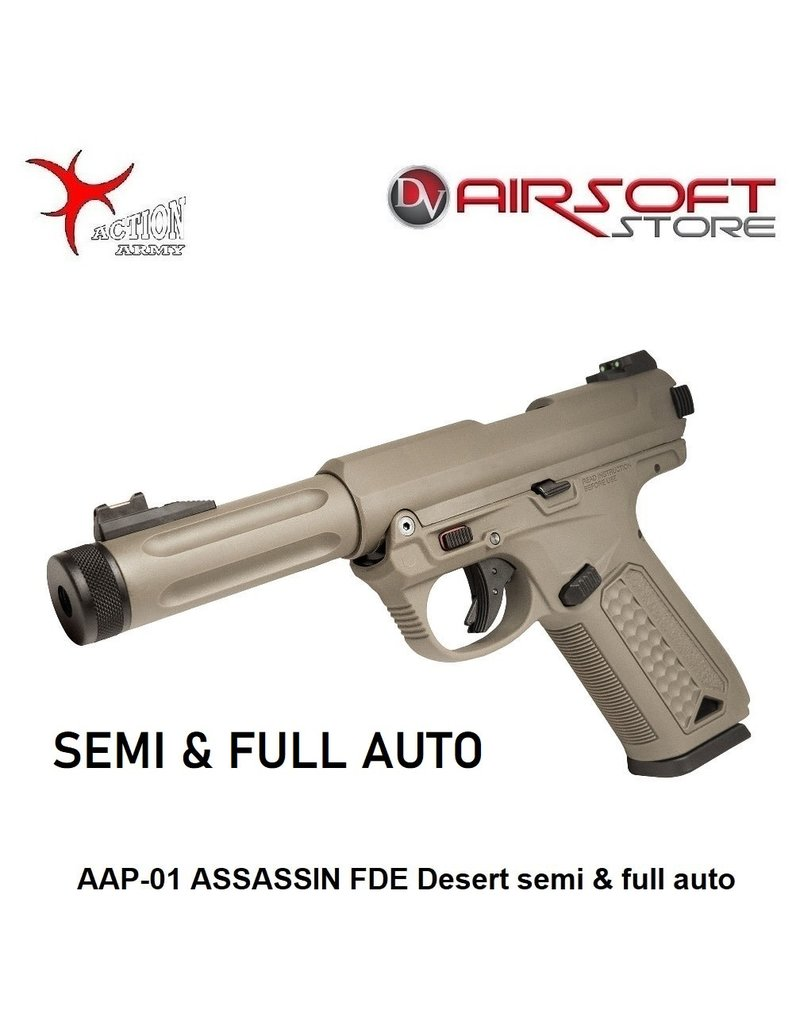 Action Army AAP-01 ASSASSIN FDE Desert semi & full auto