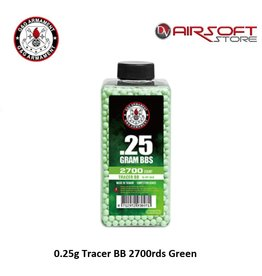 G&G 0.25g Tracer BB 2700rds Green