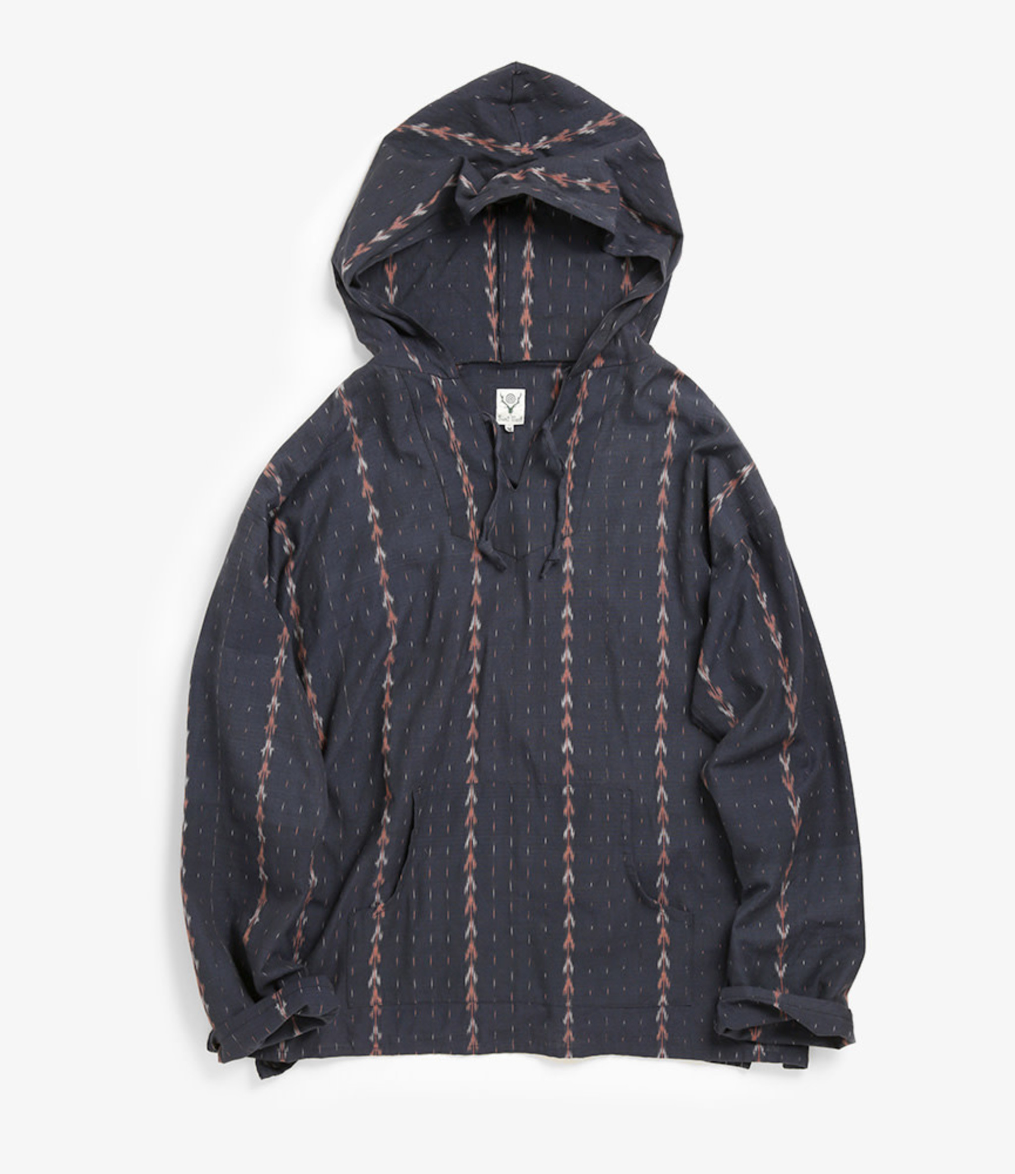 South2 West8 Mexican Parka - Cotton Cloth / Splashed Pattern