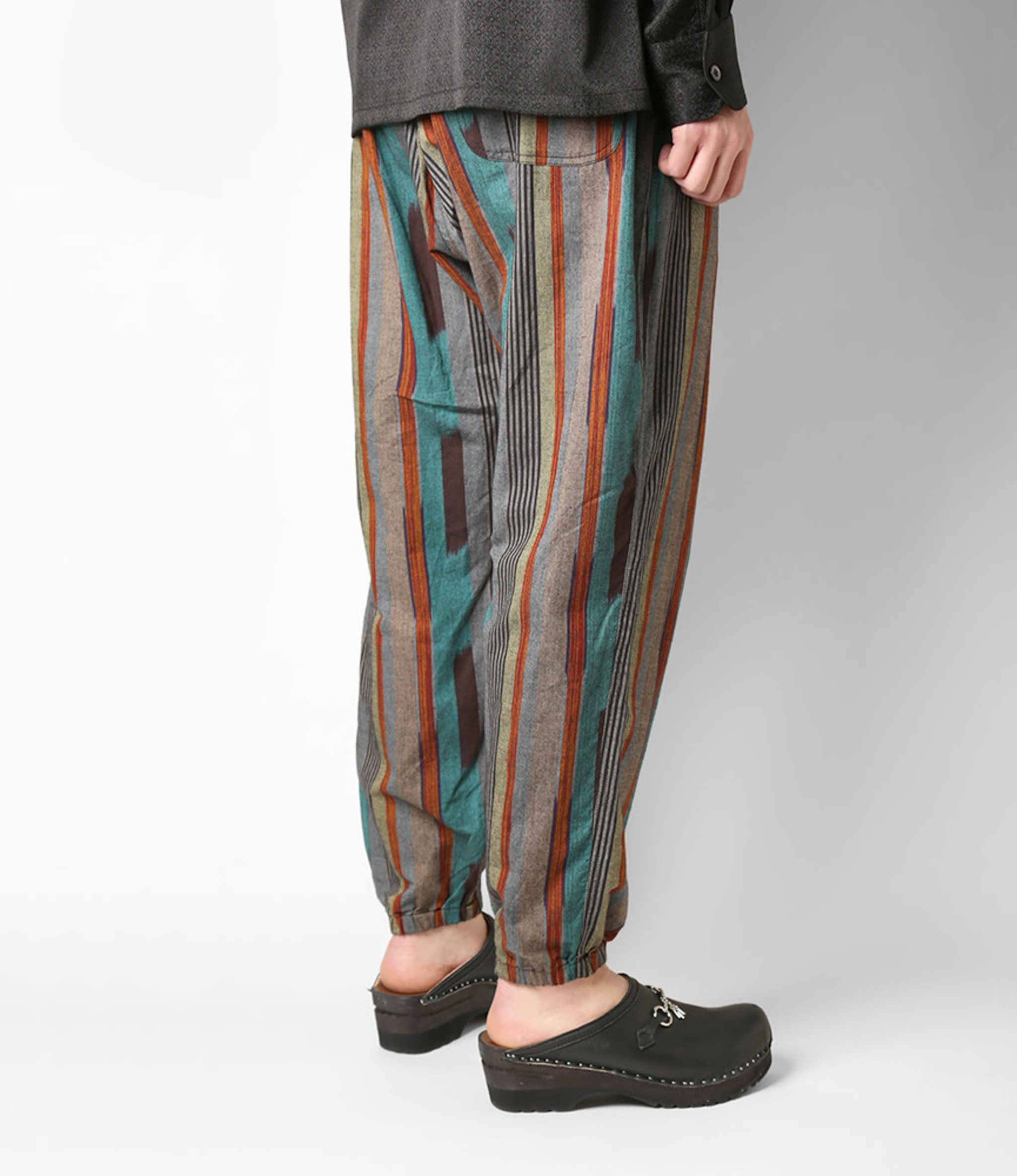 South2 West8 String Slack Pant - Cotton Cloth / Splashed Pattern