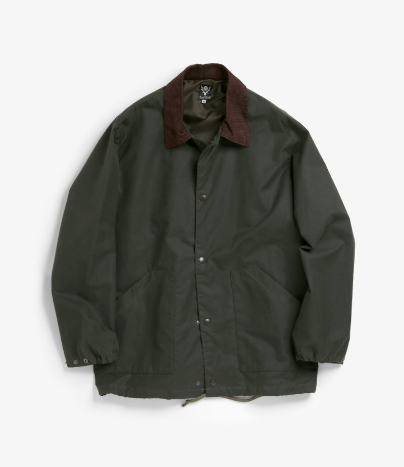 South2 West8 Waxed Cotton Coach Jacket