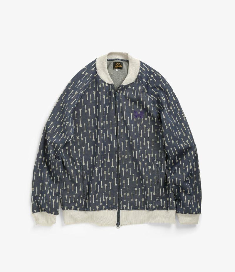 Needles ND - Rib Collar Track Jacket - Poly Jacquard