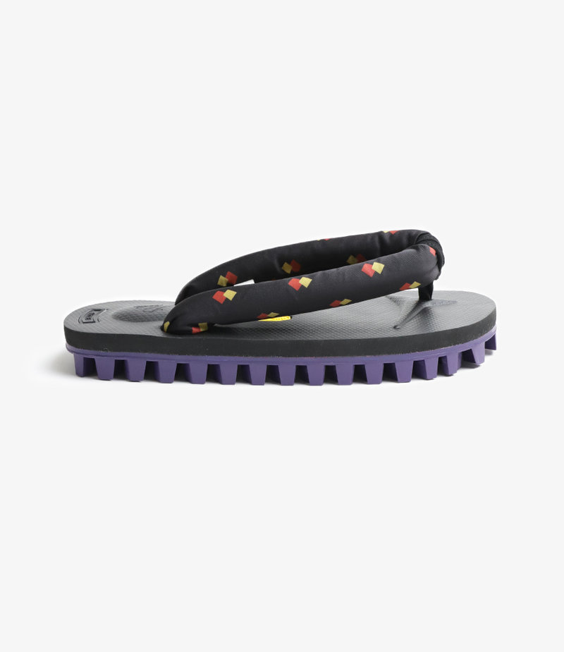 Needles Thong Sandal with Vibram Sole Black