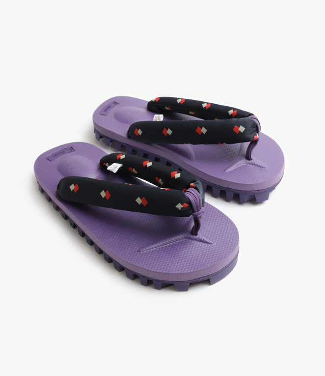 Needles Thong Sandal with Vibram Sole Purple