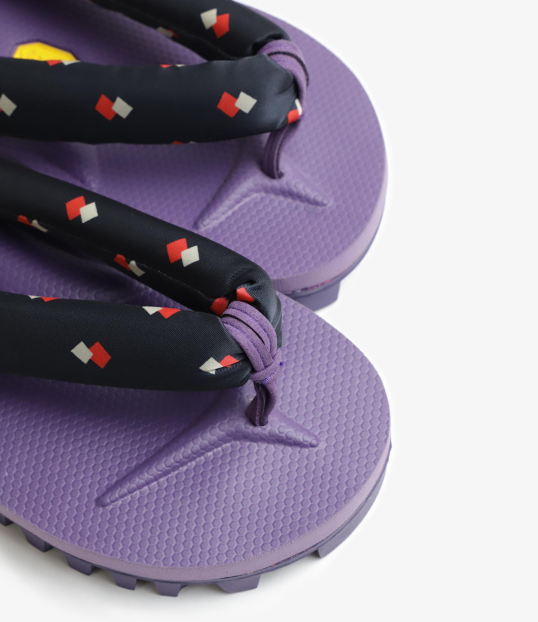 Needles Thong Sandal with Vibram Sole Purple