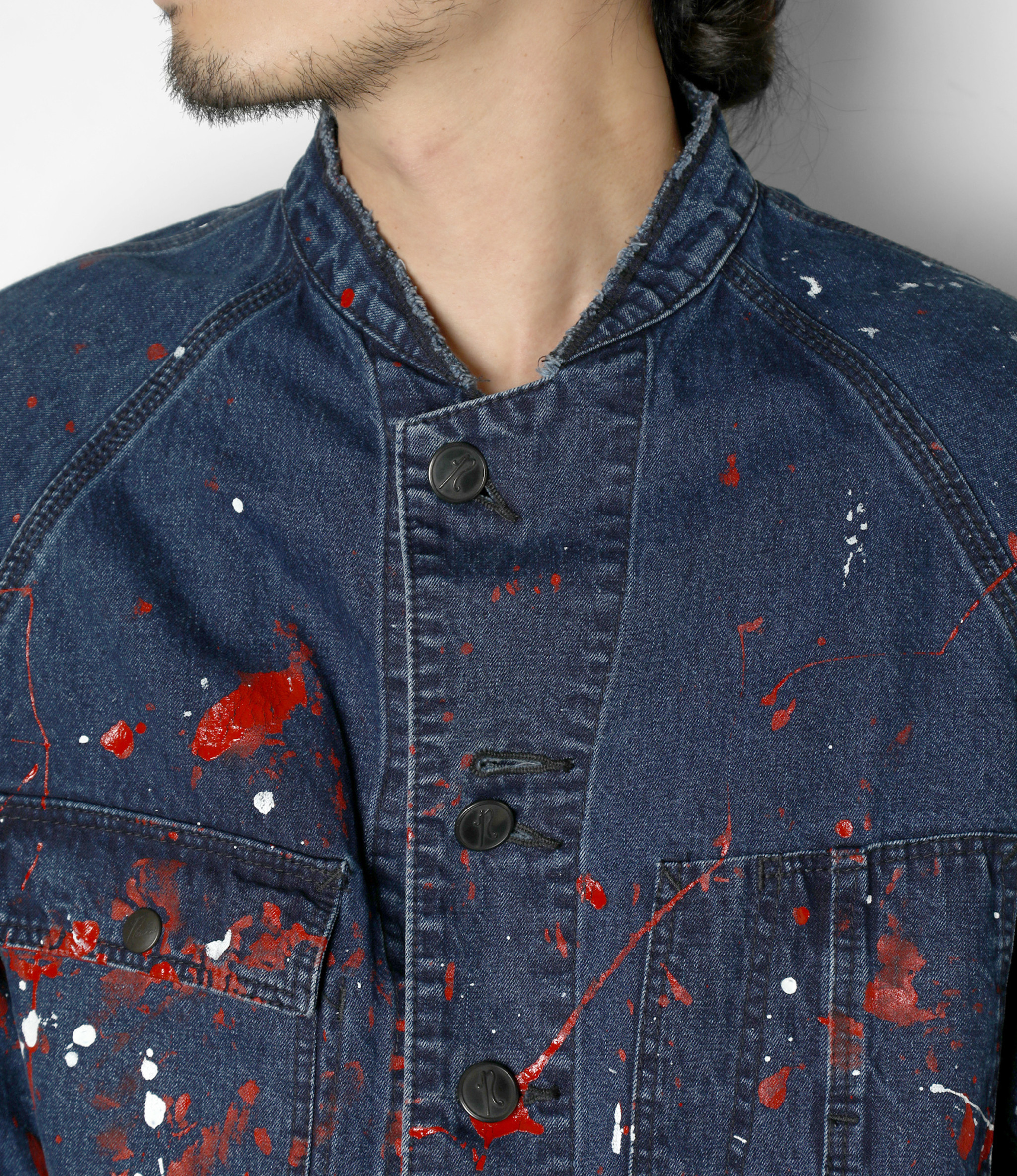 Needles Chore Coat - 10oz Denim / Paint - Indigo