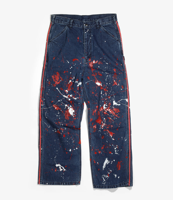 Needles Side Line Painter Pant - 10oz Denim / Paint - Indigo