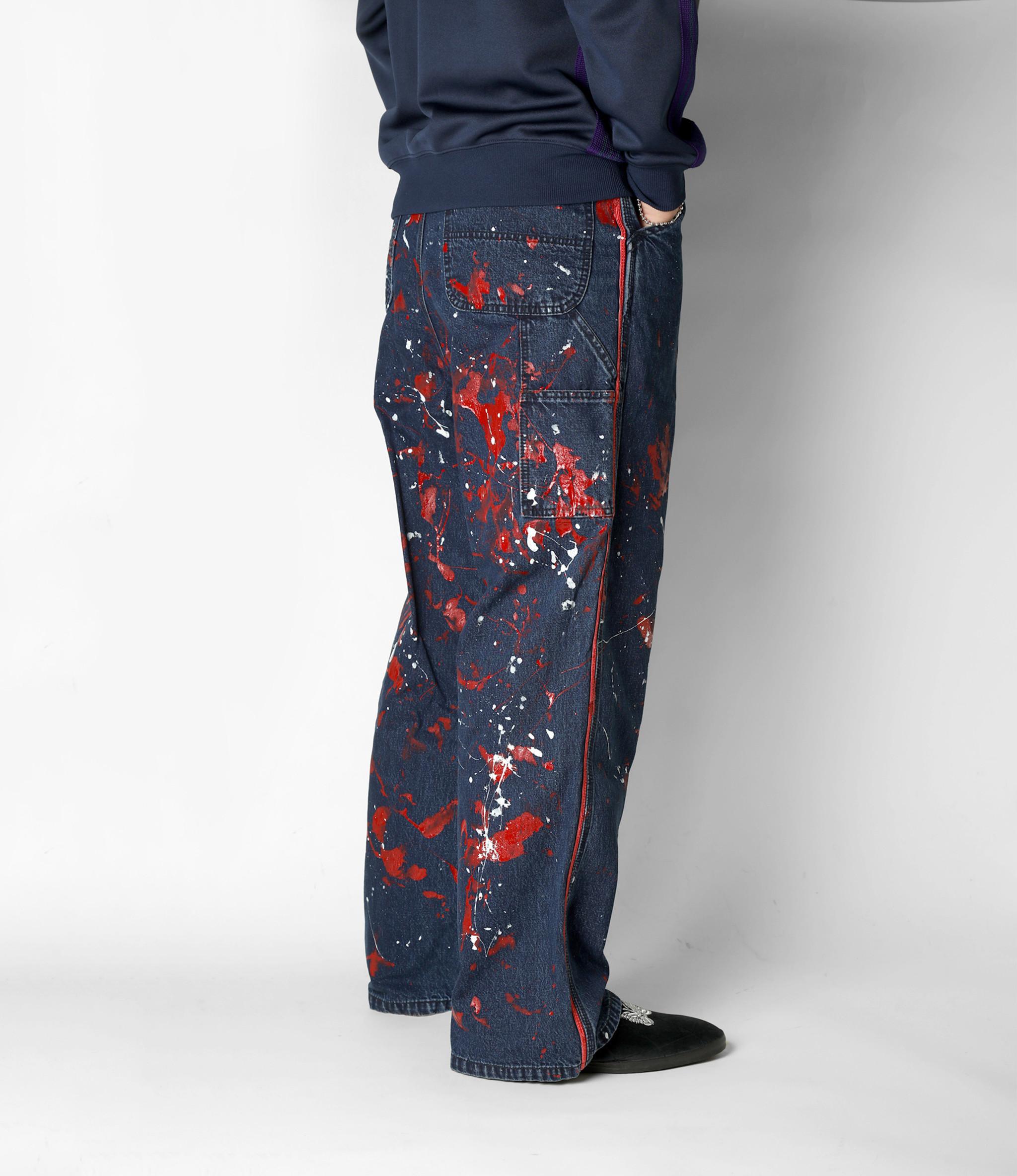 Needles Side Line Painter Pant - 10oz Denim / Paint - Indigo