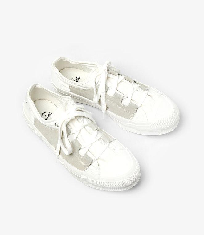 Needles Asymmetric Ghillie Sneaker - White