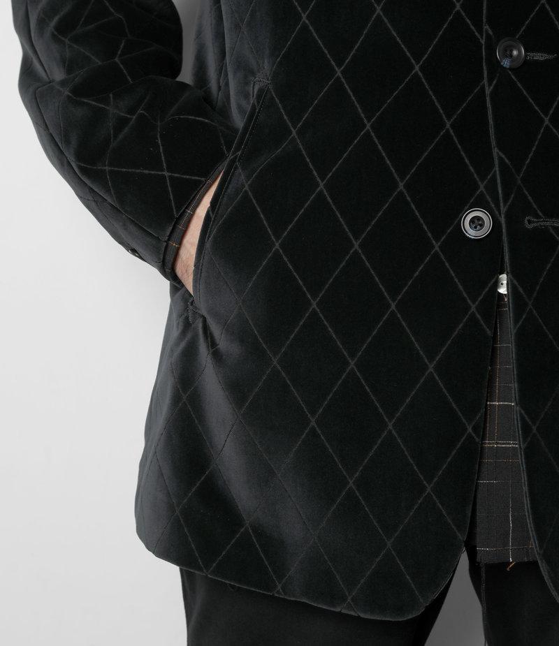 Needles Raglan Jacket - Pe/C Velvet / Opal Finished - Navy