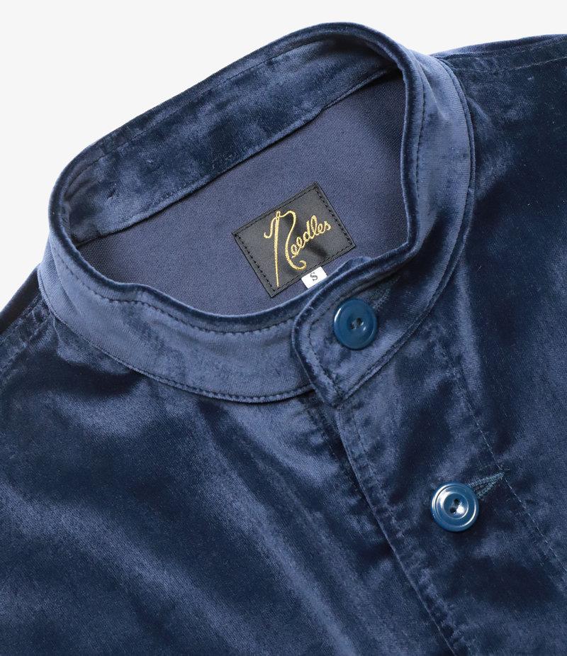 Needles Unity Shirt - Cotton Velveteen - Navy