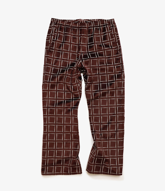 Needles Warm-Up Boot-Cut Pant -  Needles Emb. C/R Velvet - Bordeaux
