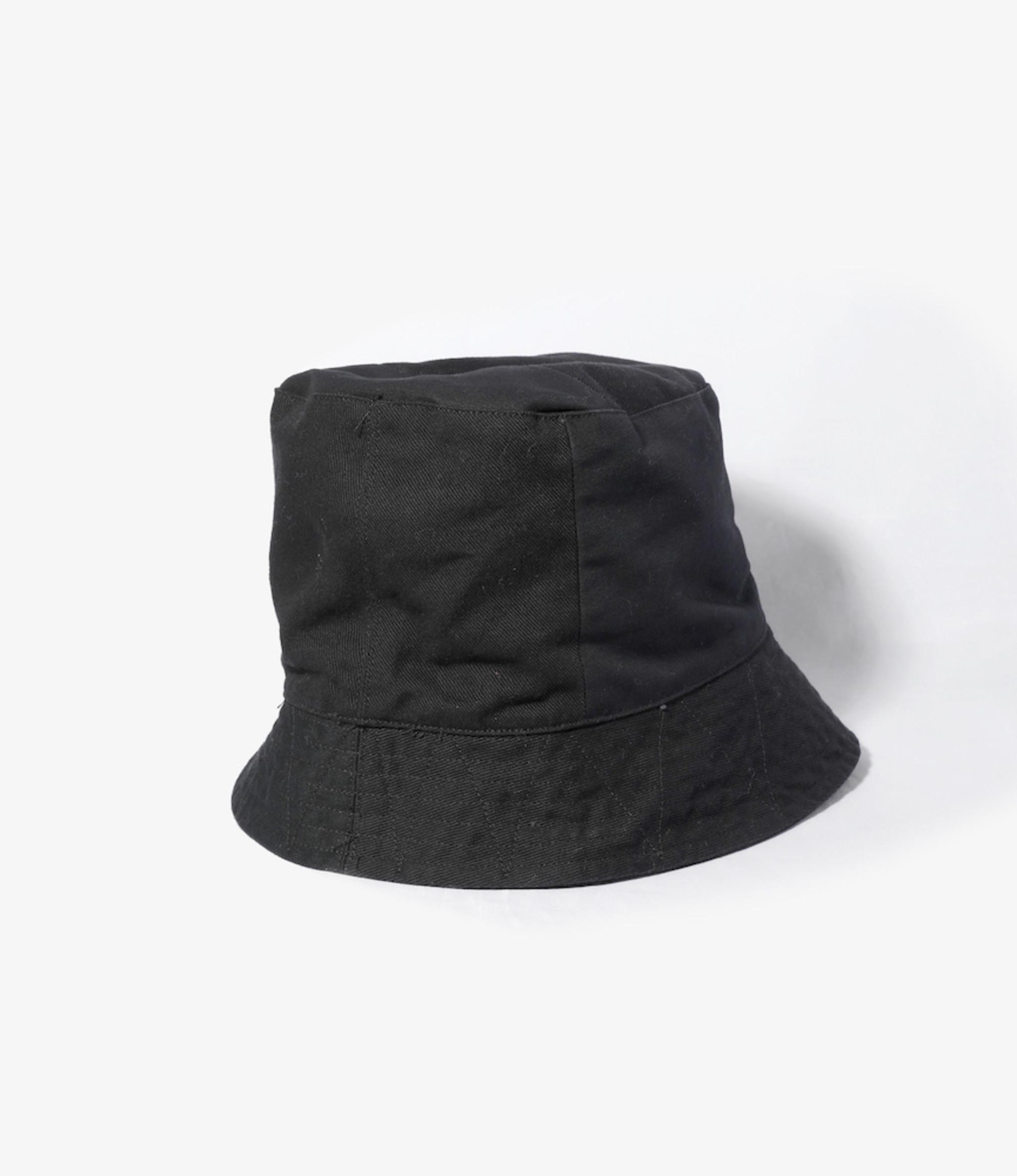 Engineered Garments Bucket Hat - Black Cotton Heavy Twill