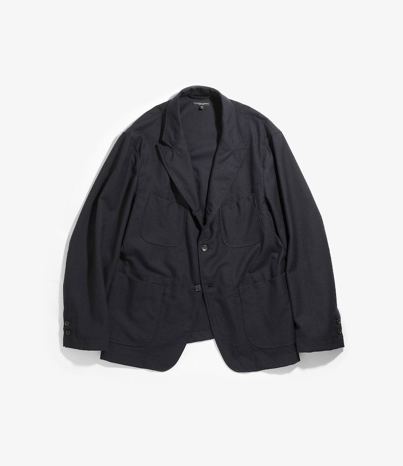 Engineered Garments NB Jacket - Dark Navy Wool Uniform Serge
