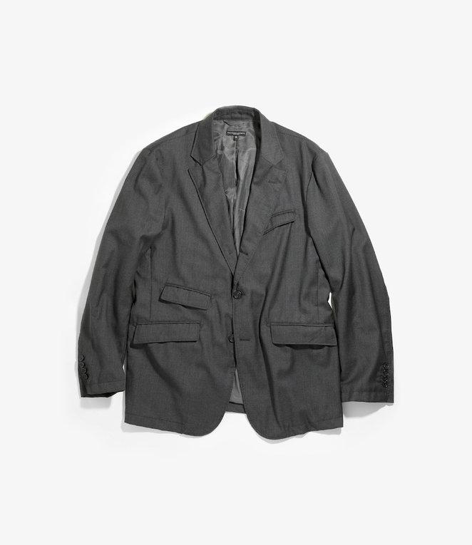 Engineered Garments Andover Jacket - Charcoal Worsted Wool Gabardine