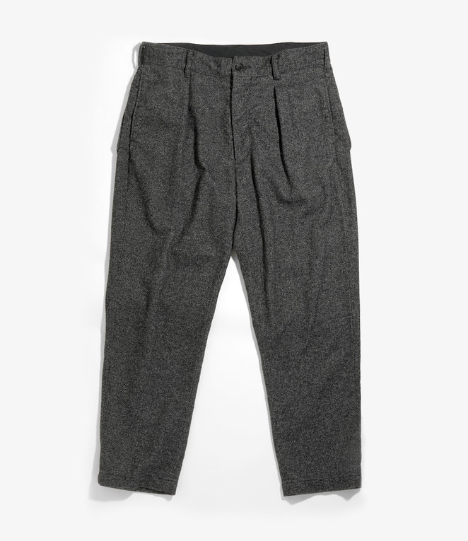 Engineered Garments Carlyle Pant - Grey Wool Blend Homespun