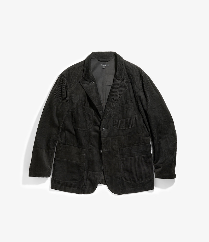 Engineered Garments Bedford Jacket - Black Cotton 8W Corduroy
