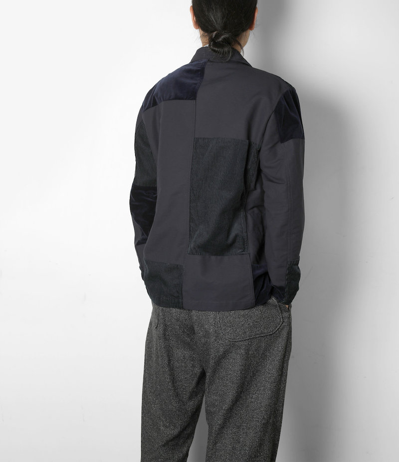 Engineered Garments Bedford Jacket - Navy Cotton Double Cloth