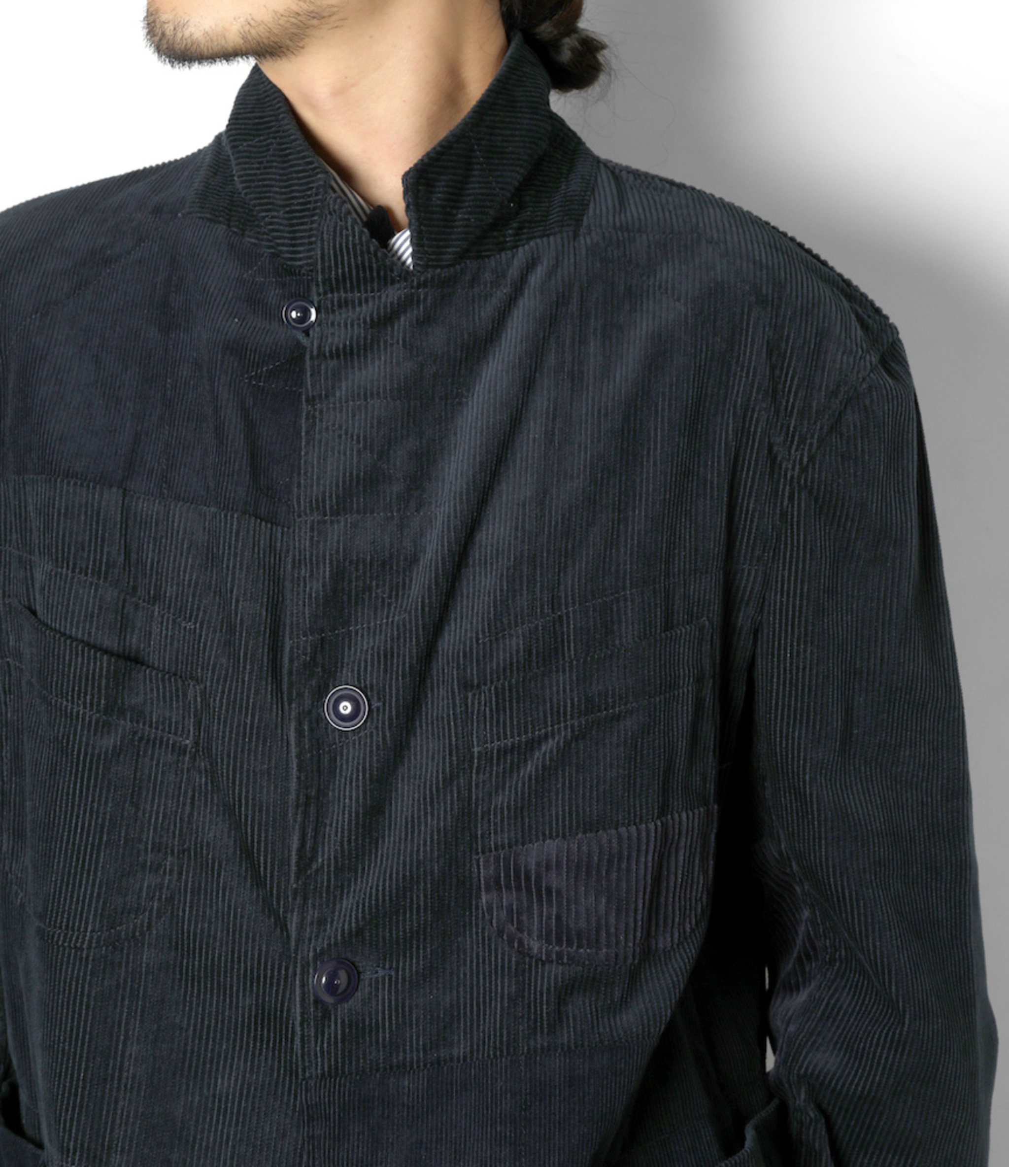 Engineered Garments Bedford Jacket - Navy Cotton 8W Corduroy