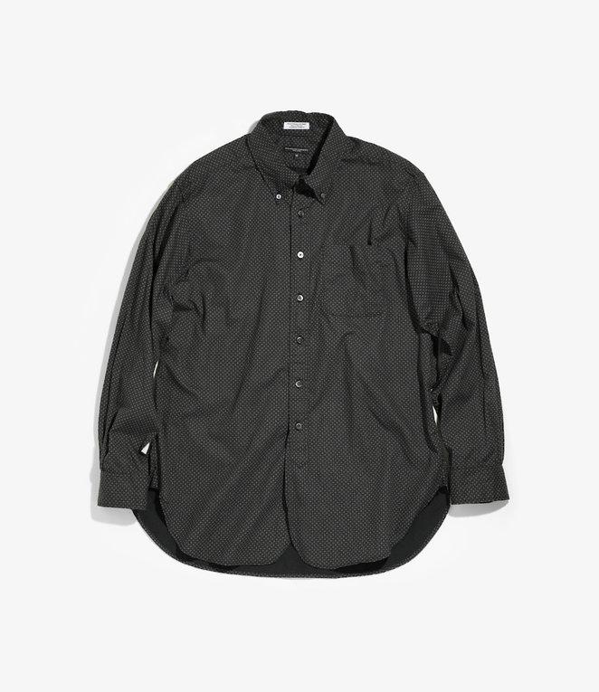 Engineered Garments 19 Century BD Shirt - Black Cotton Mini Foulard