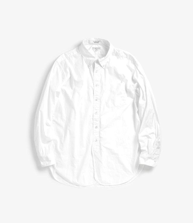 Engineered Garments 19 Century BD Shirt - White 100's 2Ply Broadcloth