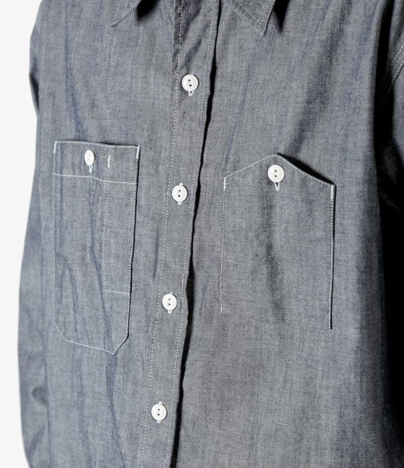 Engineered Garments Work Shirt - Indigo Cotton Cone Chambray
