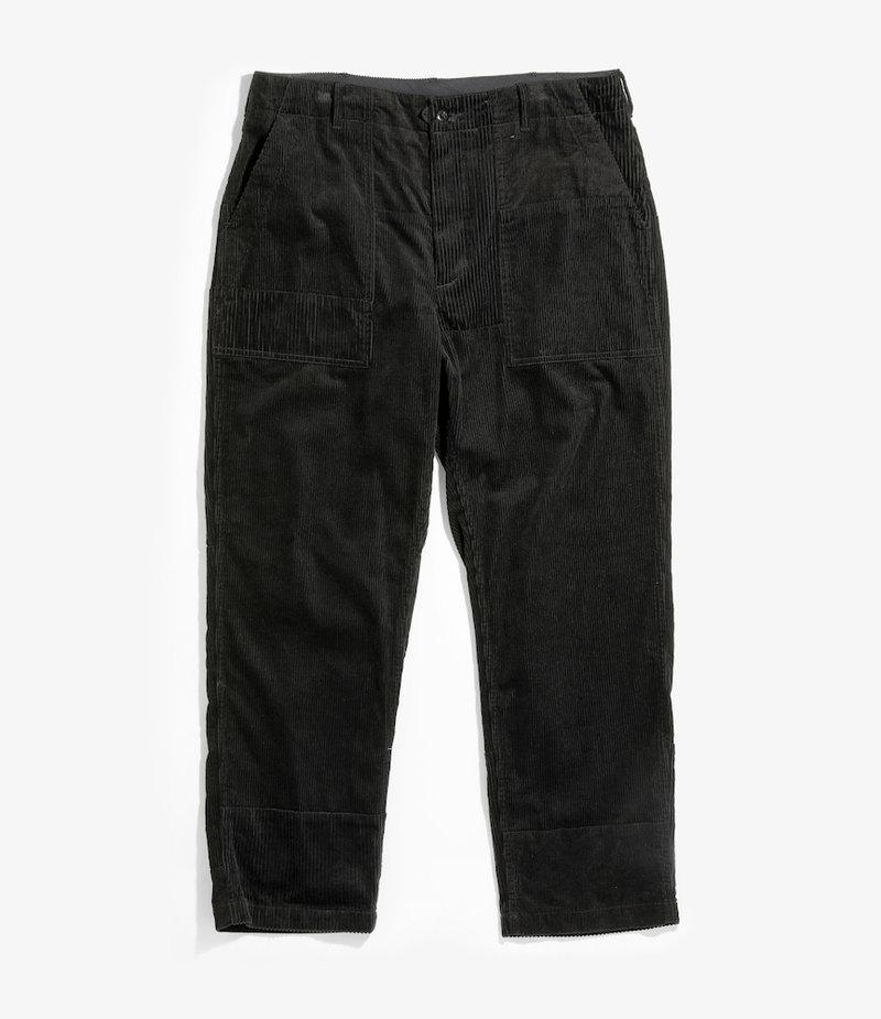 Engineered Garments Fatigue Pant - Black Cotton 8W Corduroy