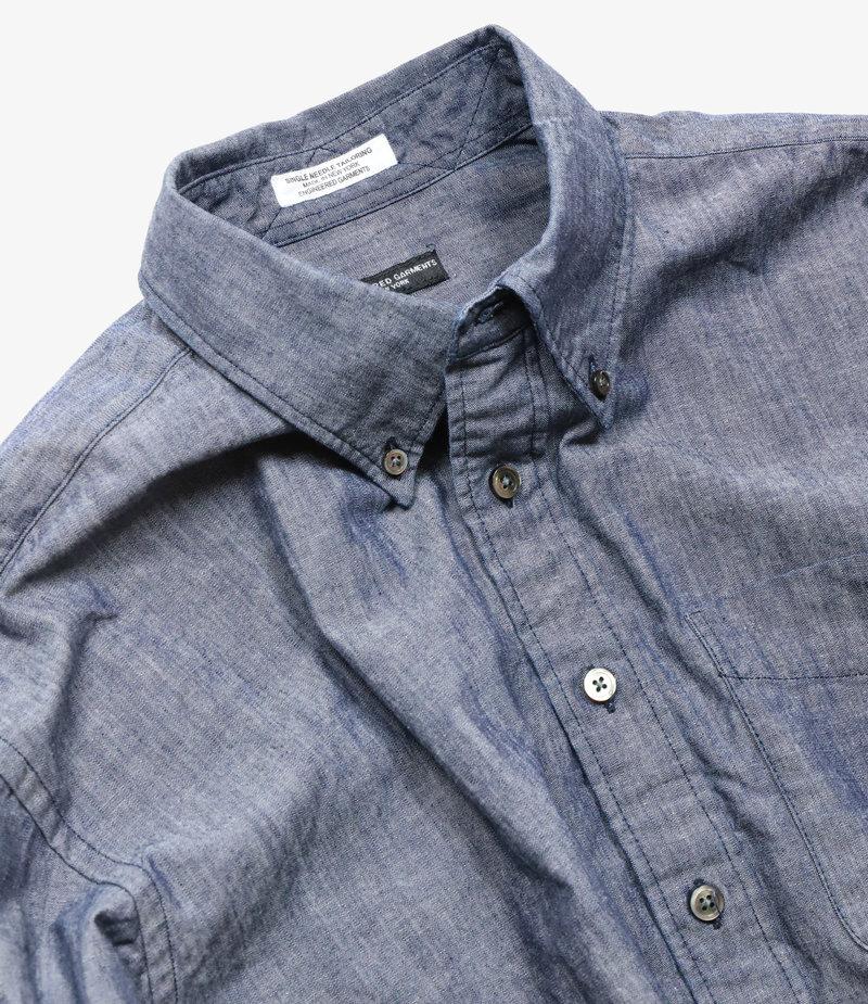 Engineered Garments 19 Century BD Shirt - Indigo Cotton Cone Chambray