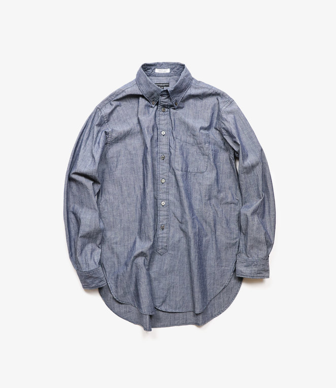 Engineered Garments 19 Century BD Shirt - Indigo Cotton Cone Chambray