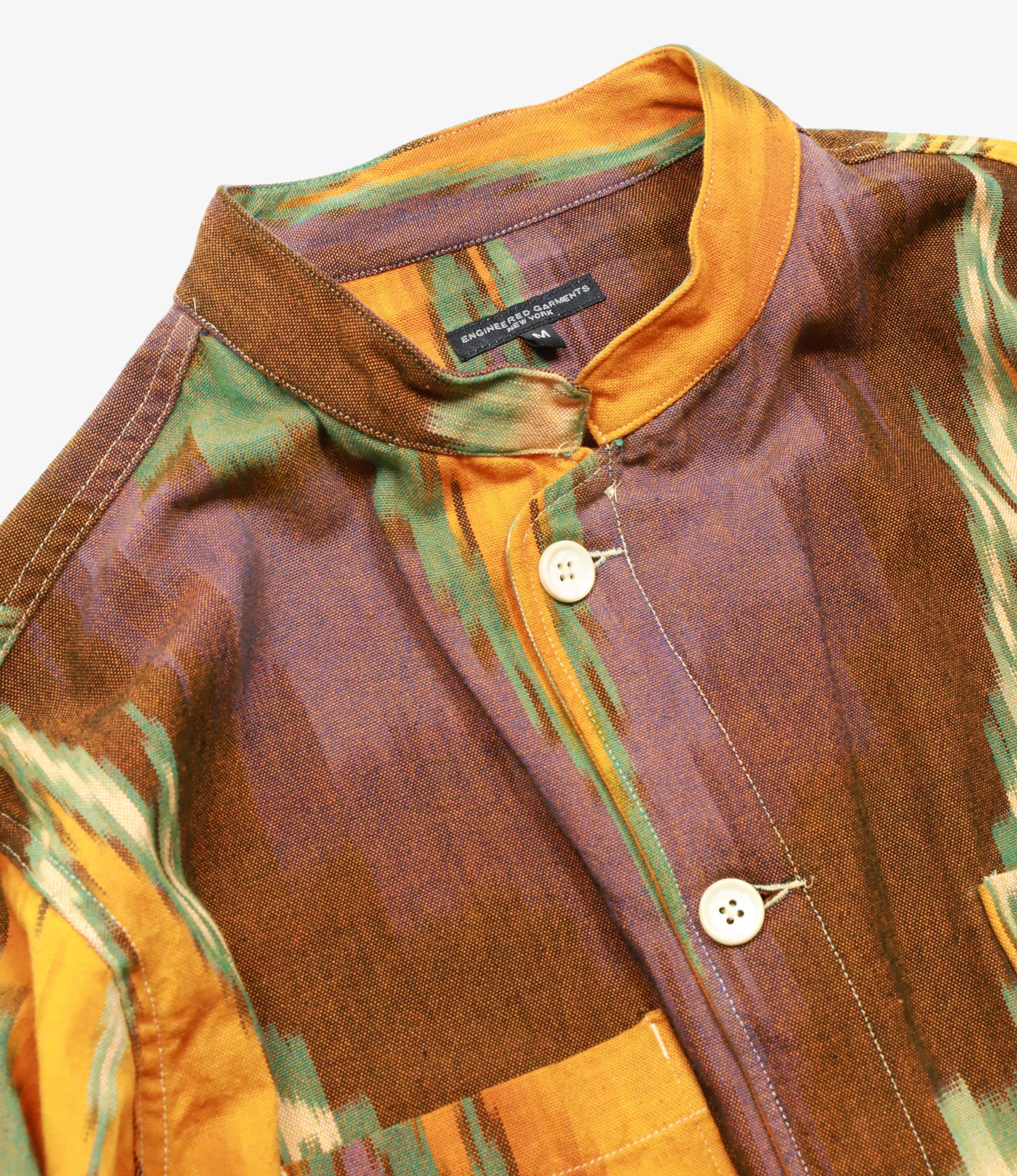 Engineered Garments Dayton Shirt - Yellow/Green Cotton Ikat