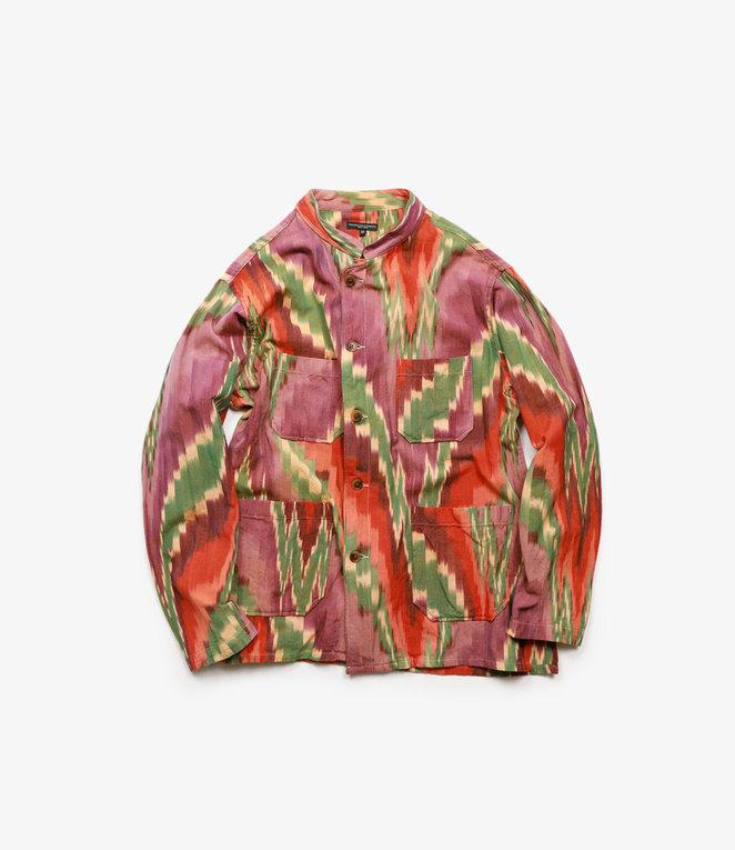 Engineered Garments Dayton Shirt - Purple/Green Cotton Ikat