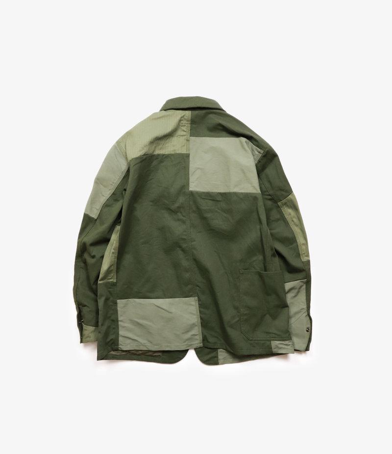 Engineered Garments Logger Jacket - Olive Cotton Heavy Twill