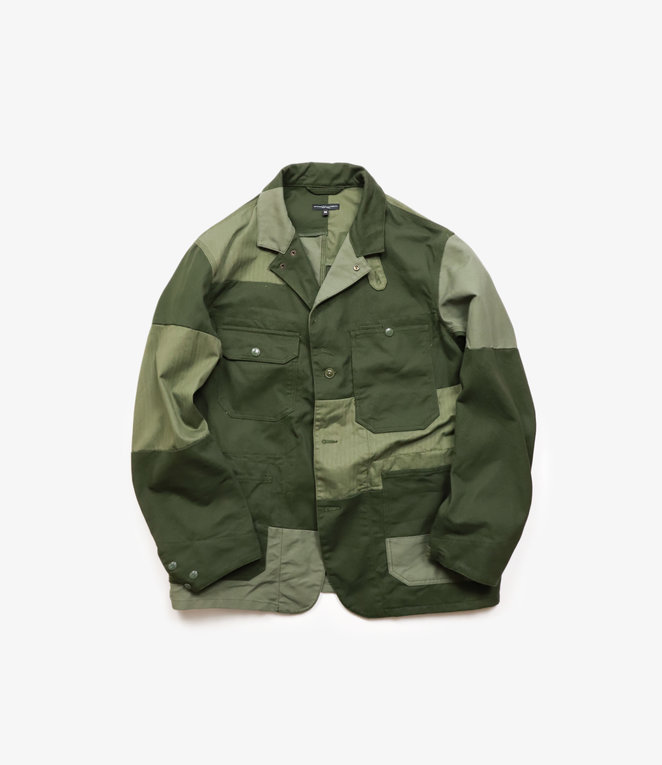 Engineered Garments Logger Jacket - Olive Cotton Heavy Twill
