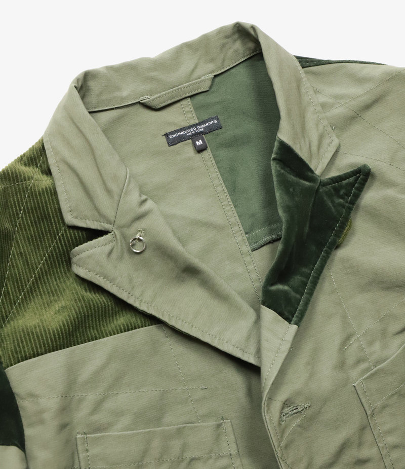 Engineered Garments Bedford Jacket - Olive Cotton Double Cloth
