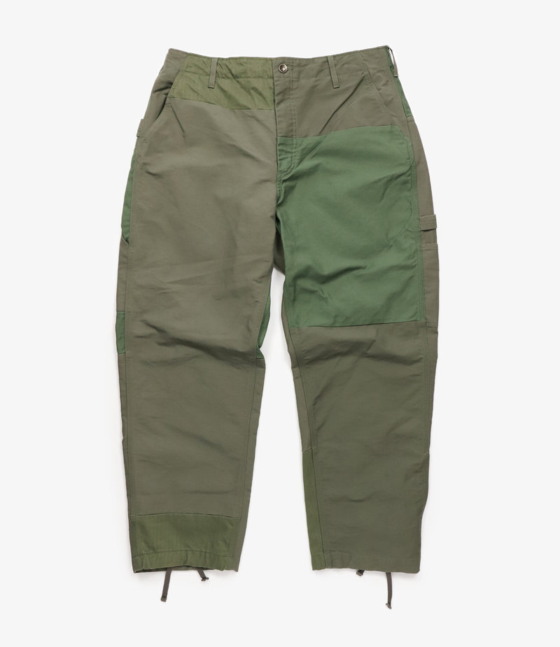 Engineered Garments Painter Pant - Olive Cotton Double Cloth