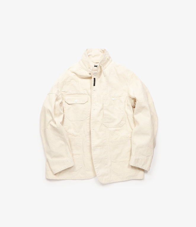 Engineered Garments Logger Jacket - Natural 12oz Duck Canvas