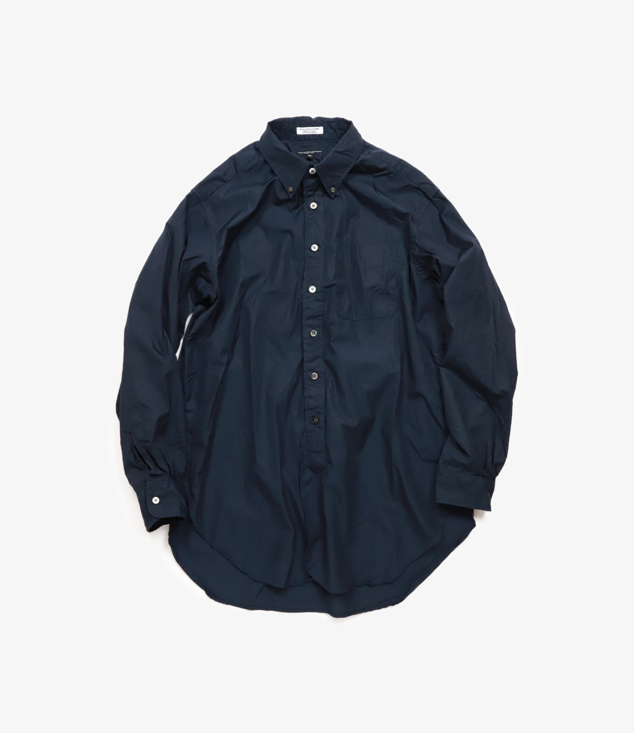 Engineered Garments 19 Century BD Shirt - Dark Navy 100's 2Ply Broadcloth