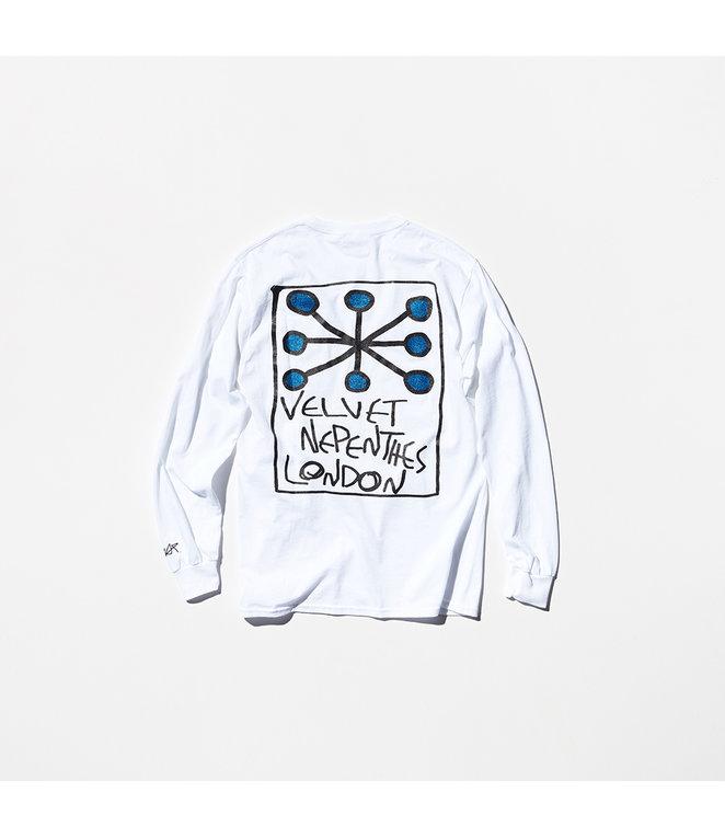 VELVET Pop-Up Store Nepenthes x VELVET : E-WAX T-Shirt - White