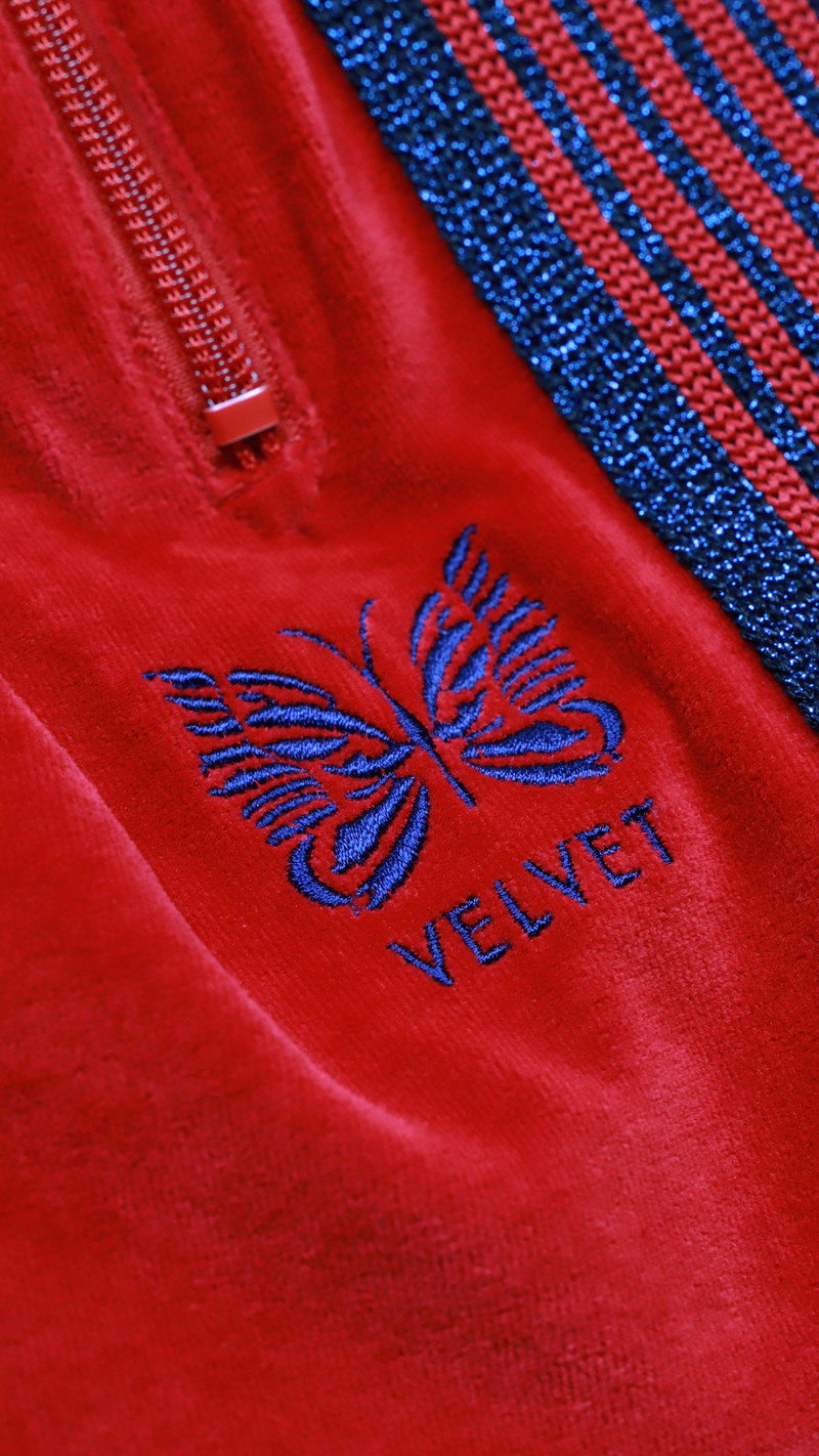 VELVET Pop-Up Store Needles x VELVET - Track Pants -  Red