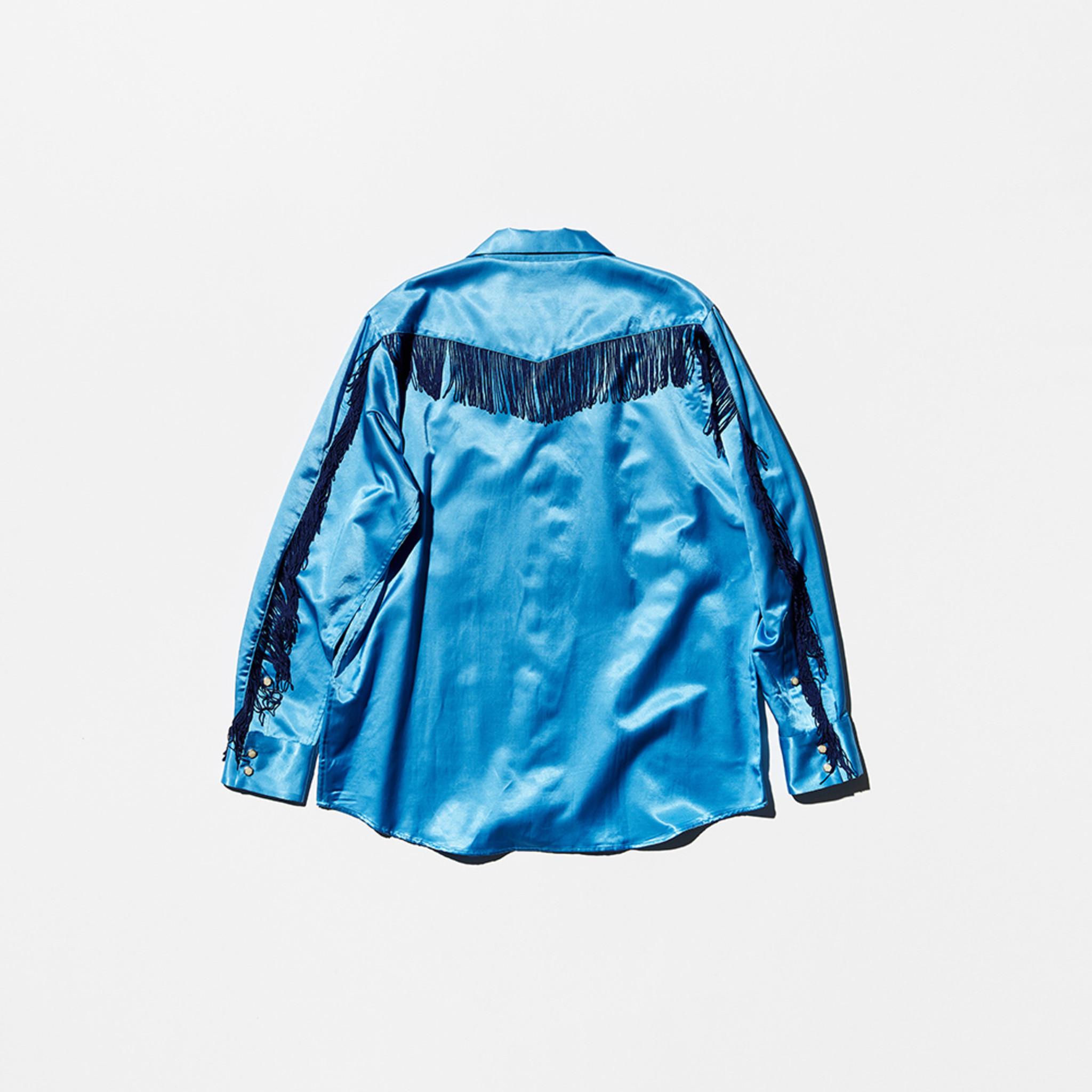 VELVET Pop-Up Store Needles x VELVET : Fringe Cowboy Shirt - Blue x Navy