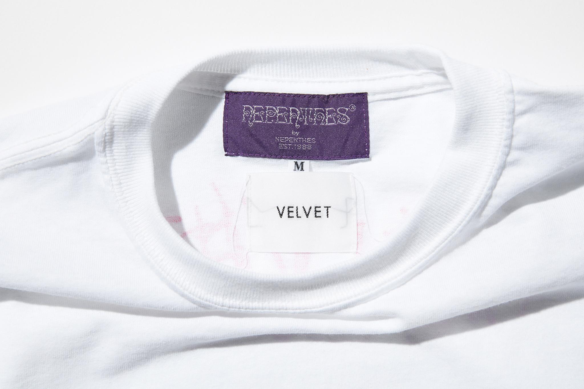VELVET Pop-Up Store Nepenthes x VELVET : Printed T-Shirt - White